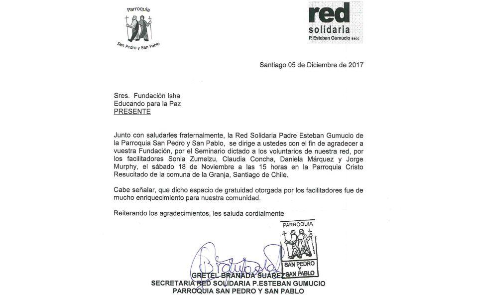 Labor social Chile – Parroquia San pedro y San pablo