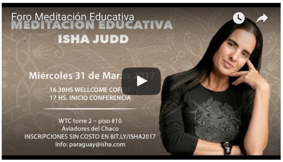 Foro Meditación Educativa Asunción Mayo 2017