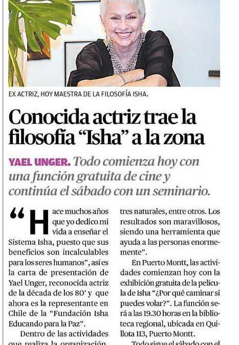 Yael Unger enseña Sistema Isha en Puerto Montt – Nota de el diario El Llanquihue