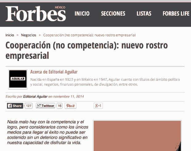 Cooperación (no competencia): nuevo rostro empresarial