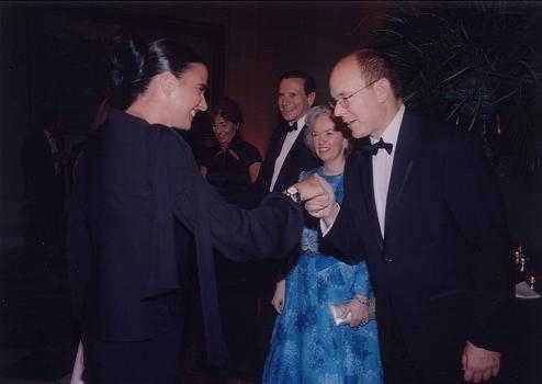 Foto Isha y el Principe de Monaco