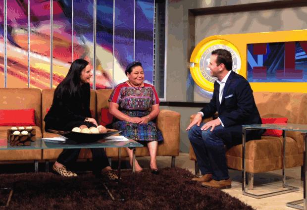 Isha y Rigoberta Menchú en Primero Noticias con Loret de Mola