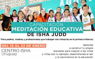 Capacitación meditación educativa 13 al 22 de enero