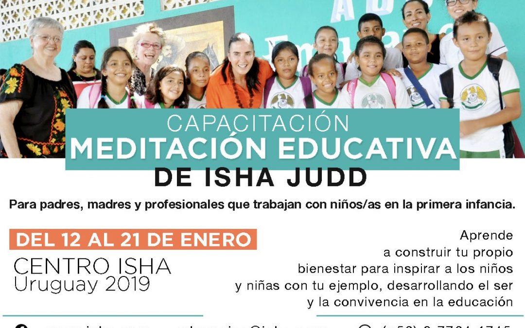 Capacitación meditación educativa 12 al 21 de enero 2019