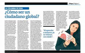 Isha – Como ser un ciudadano global