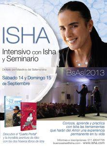Isha – en bs as 14 y 15 de septiembre