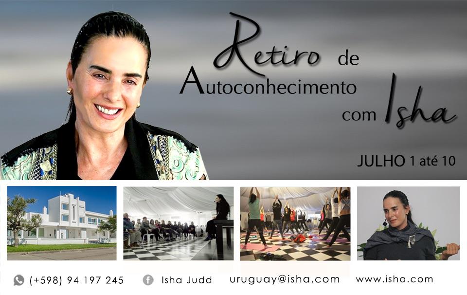 Retiro de 1 até 10 de Julho com Isha no Centro Isha Uruguai